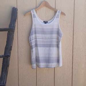 Gap Cream Gray Tan Metallic Sleeveless Tank Top